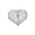 Seleniet hart 7cm, gegraveerd, wings